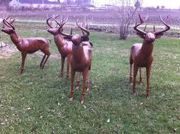 metal deer lawn ornaments rustic lodge size