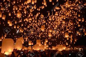 firework lantern sky lanterns firework festival chiangmai thailand loy krathong