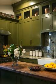 Colors To Paint Kitchen Cabinets by Olive Green Paint Color Kitchen Home Decorating Interior Design