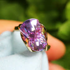 large amethyst diamond white gold february birthstone amethyst once upon a diamond tagged