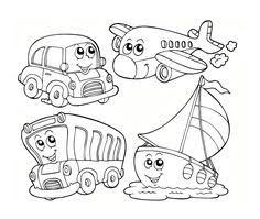 print coloring image dump trucks craft and kids colouring