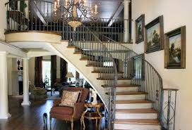 Free Standing Stairs Design Wrought Iron Balusters Staircase Traditional With Oak Treads