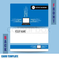 Social Network Business Card Modern Social Network Business Card Set Stock Vector Colourbox