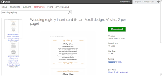 wedding registry inserts make wedding planning easier using microsoft office