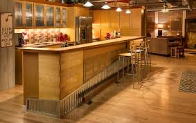 kitchen island with bar top kitchen island of a downtown loft redesigned as an intriguing bar