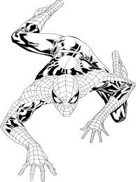 film free coloring pages coloring pages spiderman outline