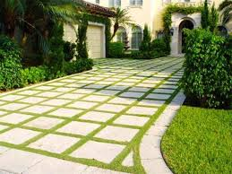 Tuscan Backyard Landscaping Ideas Exterior Front Yard Ladscaping With Plaid Pattern Cement Pavling