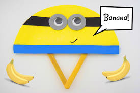 easy minion paper plate fan craft sticky mud and belly laughs