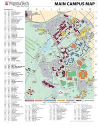 Virginia Map With Cities And Towns by Virginiatech Campus Map U2022 Mapsof Net