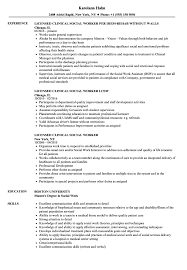 social worker resume exles licensed clinical social worker resume sles velvet