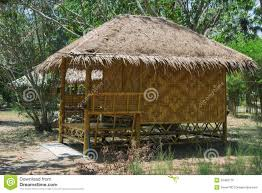 phu re hut resort bamboo bungalows in resort stock photo image