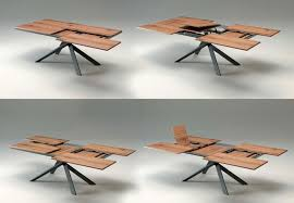 italian extendable dining table 4x4 extendable dining table by ozzio is a space saving furniture