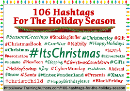 106 hashtags for the holiday season training authors for success