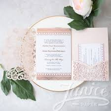 tri fold wedding invitations graceful heart tri fold laser cut pocket wholesale wedding