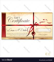 gift certificate template royalty free vector image