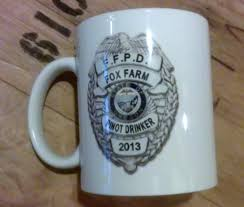 Fox Mug by F F P D Coffee Mug Fox Farm Pinot Drinker Fox Farm Vineyards