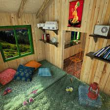 tiny cabin green roof shed plans