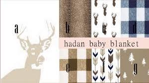 amazon com baby bedding deer navy blue brown minky blanket crib