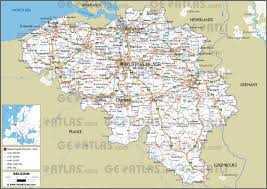 map of begium geoatlas countries belgium map city illustrator fully