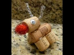 d i y rudolph the nose reindeer made out of wine