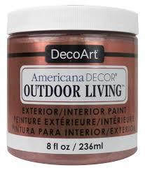 decoart americana decor outdoor living paint 8 oz metallic rose