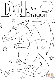letter d is for dragon coloring page free printable coloring pages