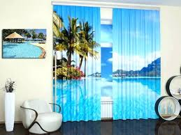 beach themed window curtains enchanting theme with additional and