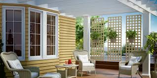 Wind Screens For Decks by Wood Lattice Dimensions