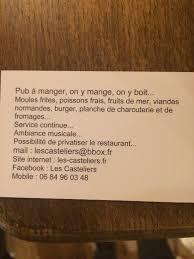 iers de cuisine en r ine les casteliers granville restaurant reviews phone number