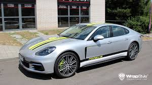 porsche wrapped wrapstyle premium car wrap car foil dubai chrome car