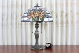 Tiffany Table Lamp Shades Stained Glass Flower Shade Modern Style Tiffany Table Lamp
