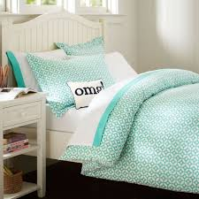 Mint Green Duvet Set Petal Dot Duvet Cover Sham Pbteen