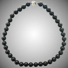 silver beads necklace tiffany images Retired tiffany co ziegfeld collection black onyx bead ball 16 jpg