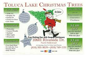 toluca lake christmas trees north hollywood burbank studio city