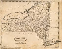 New York State Map by Cayuga County Nygenweb Project Map Page