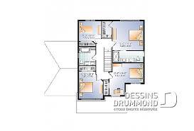 plan de maison en l avec 4 chambres plan maison à étage avec 4 chambres modèles dessins drummond