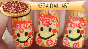 smiley pepperoni pizza nail art youtube