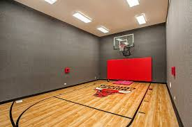 Basketball Courts With Lights Boston Home Indoor Basketball Gym Farmhouse With Dewing Schmid