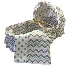 Baby Moses Basket Bedding Set Chevron Moses Basket Bedding Set With Canopy Products