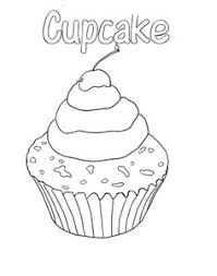 printable cupcake coloring pages party ideas