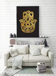 Zen Decor Amazon Com Hamsa Poster Hand Of Fatima Print Spiritual Art Zen