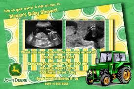 deere baby shower deere tractor baby shower invitation