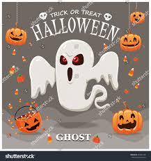 vintage halloween poster design vector ghost stock vector