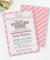 tickled pink baby shower invitation baby shower pink