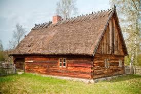 wooden house poland kashuby wdzydze stock photo colourbox