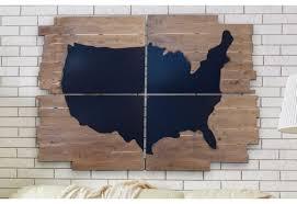 Map Wall Decor by Wall Decor Chalkboard Wall Map Wood Map