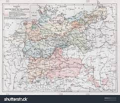 Dia Map Vintage Map Representing German Dialects Year Stock Photo 95195770