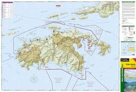 St Thomas Virgin Islands Map Virgin Islands National Park National Geographic Trails