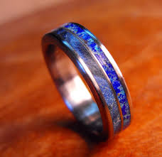 blue titanium wedding band wedding ideas manly wedding rings excelent mens bands picture