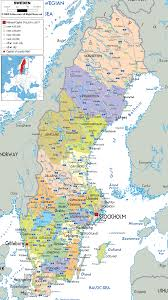 map of sweden detailed political map of sweden ezilon maps